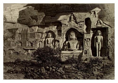 011- El Urwahi risco esculpido en Gwalior-La India en palabras e imágenes 1880-1881- © Universitätsbibliothek Heidelberg