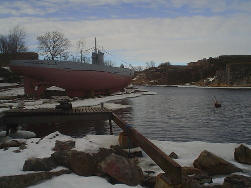 Fortaleza de Suomenlinna em Helsínquia na Finlândia