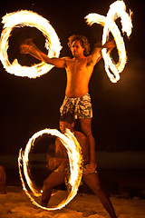 Aitutaki Fire Dancers by Michael Anderson (AndersonImages) Tags: beach michael anderson southpacific cookislands firedancer aitutaki polynesianculture pacificresort