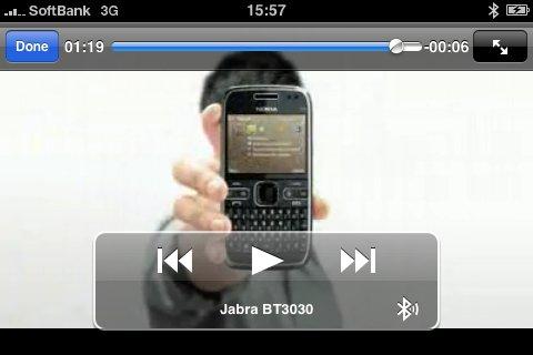 Bluetoothで動画の音声もOK