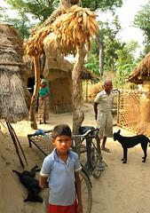 Ex-Kamaiya Family in front of their house in Bardiya District,  Photo: Kan Yan, AP Fellow 2009