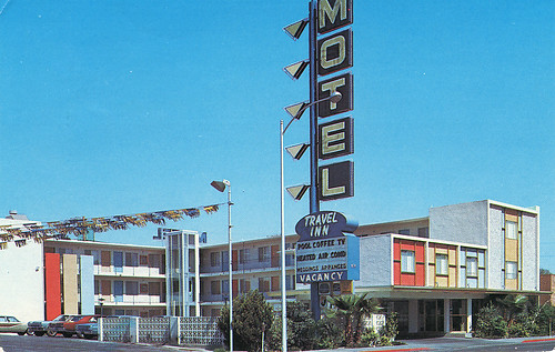 Travel Inn Motel Las Vegas NV postcard
