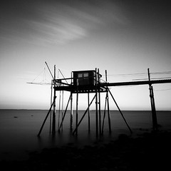 The beast (Stephane Suisse) Tags: sea bw art long exposure fineart waterscape carrelet