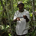 Jamaican expert proudly holding Euphorbia alata, a long-lost endemic species