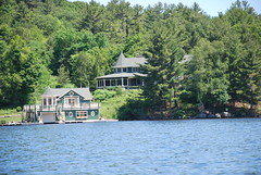 Goldie and Kurt's place (eastick_east) Tags: boating lakerosseau rosseau