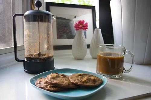 espresso hazelnut cookies