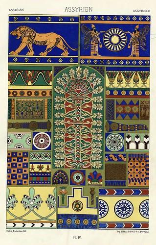 004-Ornamentos policromados asirios-Das polychrome Ornament…1875