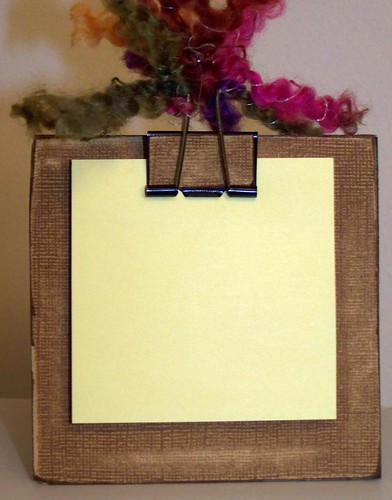 Binder Clip Note Pad Holder