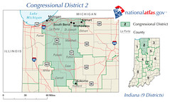 Indiana District 2 111th Congress as elected 4 November 2008