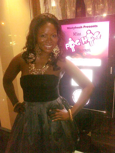 Abiola Abrams at the Miss Fag Hag Pageant 2010