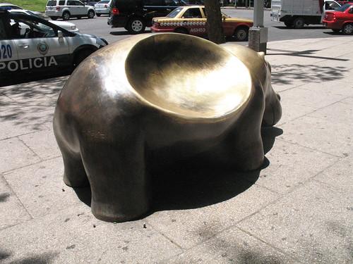 Hippopotamus bench