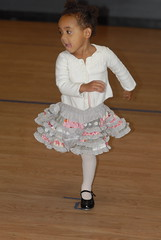 Loves dancing in her new skirt
