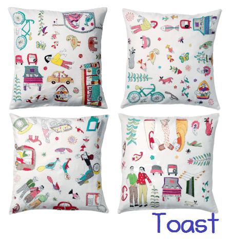Toast pillows