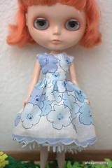 Vintage Handkerchief Blythe Dress- Hand made by me!