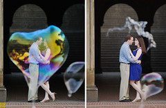 Bursting my Bubble (Ryan Brenizer) Tags: wedding woman man love groom bride engagement nikon heart centralpark bubbles bubble decisivemoment d3s 70200mmf28gvrii