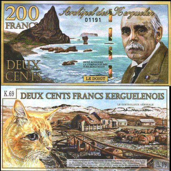 200 Frankov ostrovy Kergueleny 2010, polymer