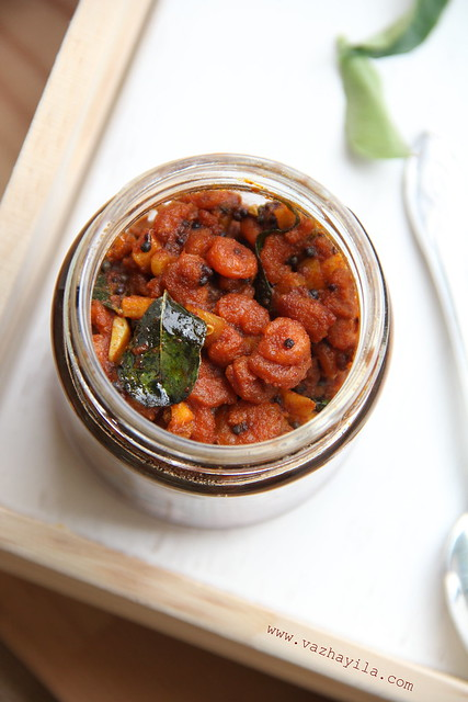 Chemmeen- Konju Achar ( Prawns pickle)