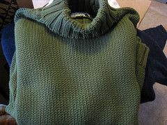 recycled big cotton sweater green