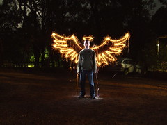 (Tom Paton) Tags: longexposure lightpainting night wings halo sparklers multipleexposure torch reilly sparkler angelwings lightdrawing aireysinlet alemdagqualityonlyclub reflectyourworld