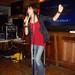 Gwen Bell singing and dancing