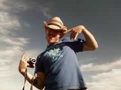 My funky music white boy (Lorenia) Tags: camera usa goofy george cowboy florida fl capecanaveral cowboyhat toastforbrekkie 20081109 1109081427