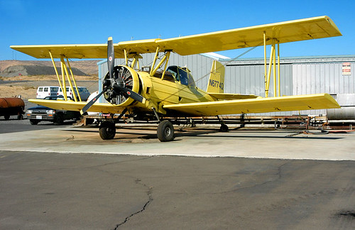 FLICKR INFRASTRUCTURE: former crop duster disperses a new cargo
