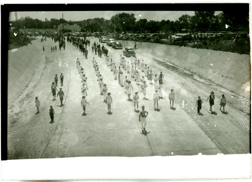 Parade in the drainage canal