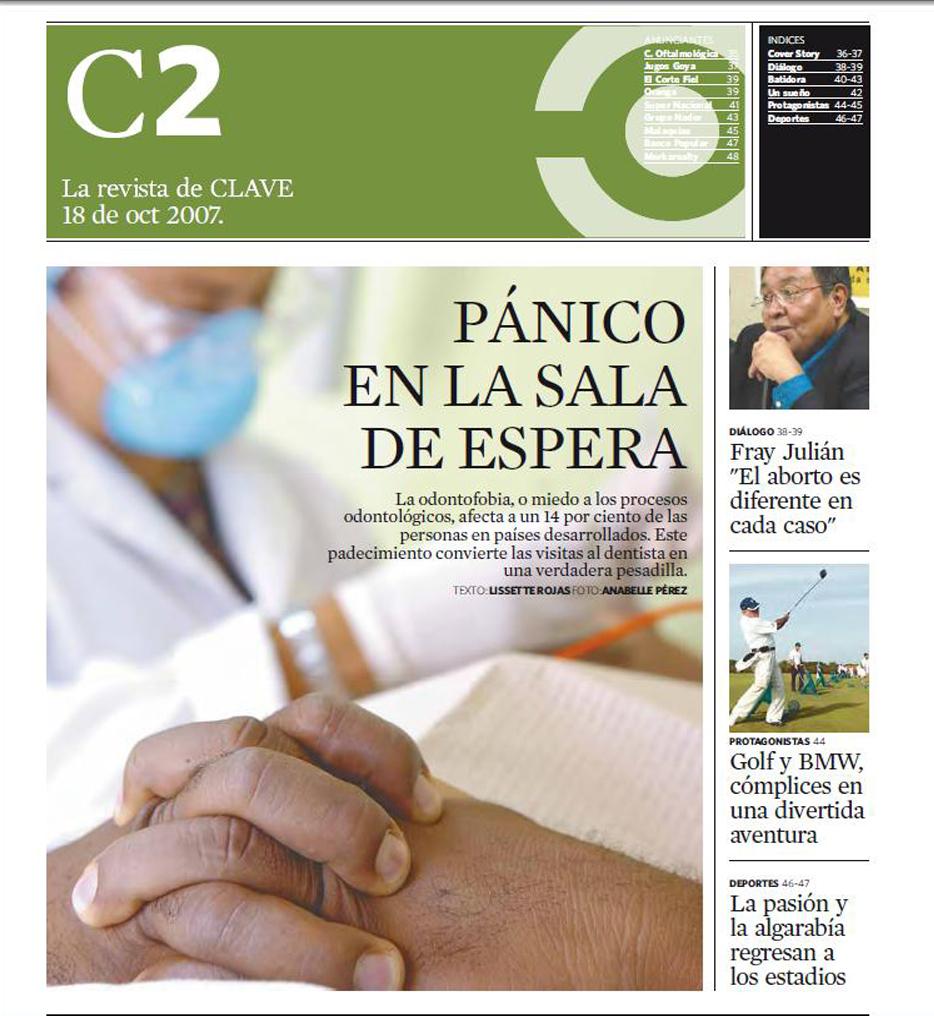 PORTADA DE C2, Revista del semanario Clave. Foto Anabelle Pérez
