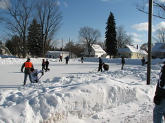 Ice Skating in Suttons Bay