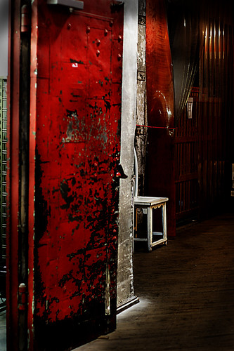 Industrial Red Door