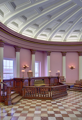 Old Courthouse, Jefferson National Expansion Memorial, in Saint Louis, Missouri, USA - Circuit Courtroom #13