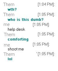 my chat with a coworker