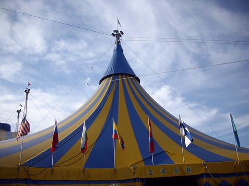Cirque du Soleil tent.