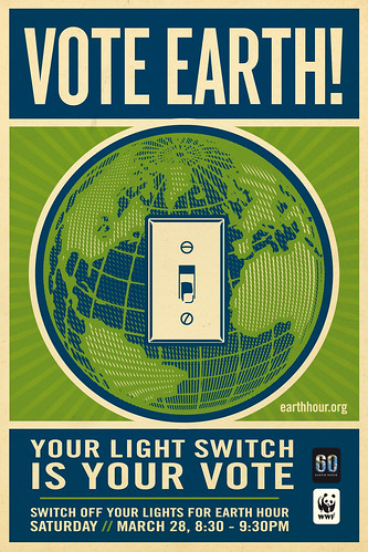 Vote Earth! Switch Off Your Lights For Earth Hour by Shepard Fairey