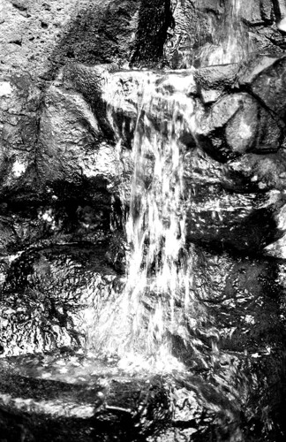 Miniature Waterfall. (Ilford FP4 Plus. Nikon F100. Epson V500.)