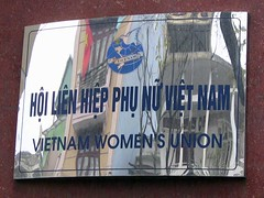 Sign on Vietnam Women's Union Building