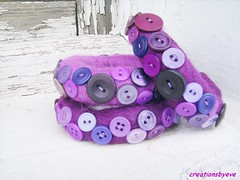 SE bangles (creationsbyeve) Tags: europe purple felting handmade buttons crafts jewelry felt athens greece homemade bracelet handcrafted etsy artisan crafting bangles handmadegifts handcraftedgifts creationsbyeve greekstreetteam