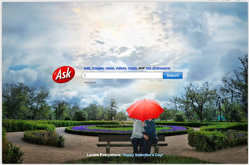 Ask.com's Valentines Day Logo