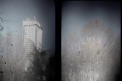 about towers and trees (rosa_rusa) Tags: madrid espaa spain over explore plazadeespaa edificioespaa torredemadrid rosarusa abouttowersandtrees detorresyarboles betweentowersandtrees entrearbolesytorres