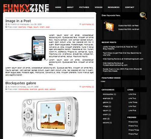 Funky Zine Blogger template