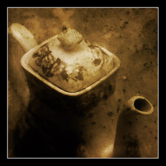 Tea time - pictorialist version (TLaakso) Tags: photomanipulation tea teapot pictorialism pictorialistic