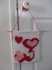 Peanut's Valentine's banner
