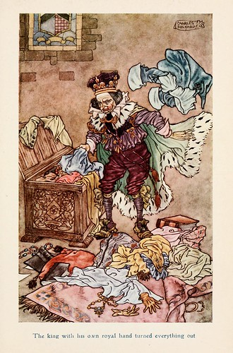 014-Charles Folkard- Jolly Calle & other Swedish fairy tales-1912-El collar de la reina