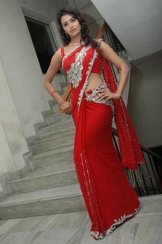 saree with hot sexy girl