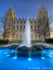 On This Day of Joy and Gladness (James Neeley) Tags: architecture utah saltlakecity slc templesquare hdr tiltshift ldstemple 5xp flickr28 jamesneeley bratanesque flickr11 vertorama eisf2009