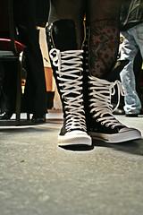 converse wedding (studiojanssen) Tags: wedding white black 20d feet tattoo shoe eos star florida converse cannon chicks fl groundlevel allstar chucks laces converseboots