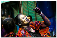 One moment of merriment [..Dhaka, Bangladesh..] (Catch the dream) Tags: portrait smile face festival golden paint merriment bongo joy dhaka festivity facepaint holi bangladesh bangla bengali dol olddhaka bangali hindus festivalofcolors hinducommunity theturntable shakharibazar dolpurnima gettyimagesbangladeshq2