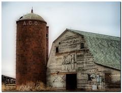 barn & silo.jpg (Father Tony) Tags: barn southdakota landscape photo weathered prairie mclaughlin adobephotoshopelements ortoneffect redynamixplugin canon350dcanoneosdigitalrebelxt adobephotoshopelements7