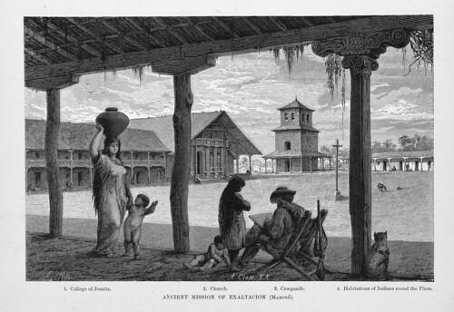 012-Los Ríos Amazonas y Madeira 1875-Antigua mision de la Exaltación en Mamoré