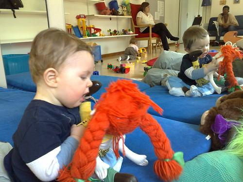 Linus på öppna förskolan